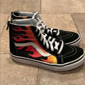Vans with flames